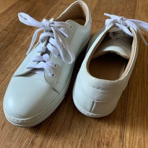 A.P.C. White leather sneakers